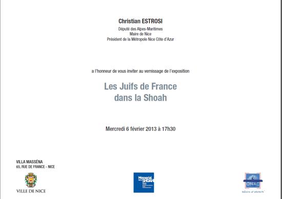 Vernissage de l'exposition : les Juifs de France  dans la Shoah