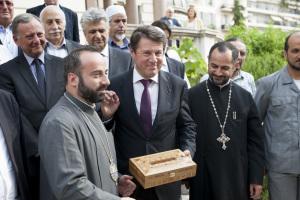 Chrétiens d'Orient : Réception de Monseigneur Armash Nalbandian, Primat de l'Eglise Apostolique arménienne de Syrie.
