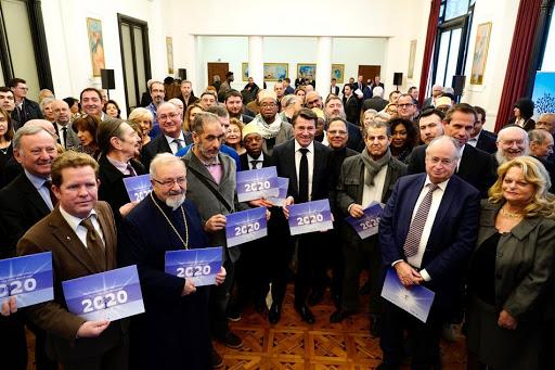 Vœux à Alpes Maritimes Fraternité et aux représentants des cultes.