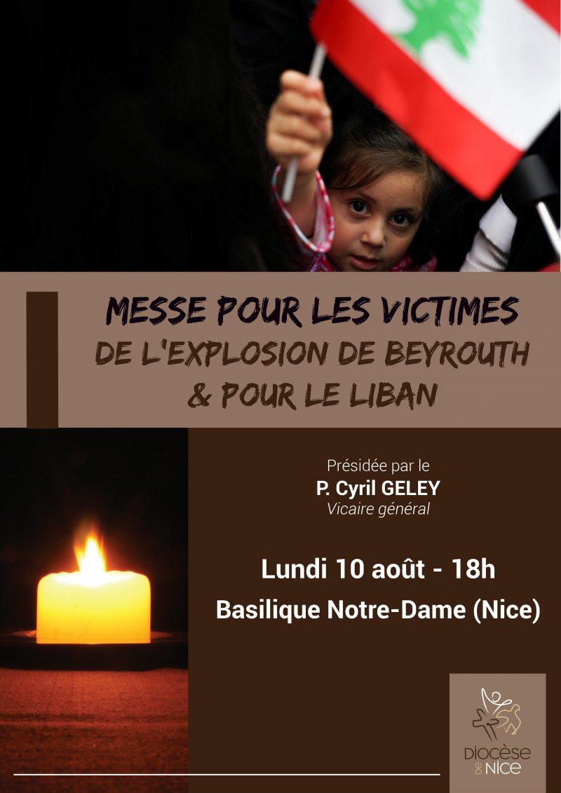 Messe à l'intention des victimes de l'explosion de Beyrouth